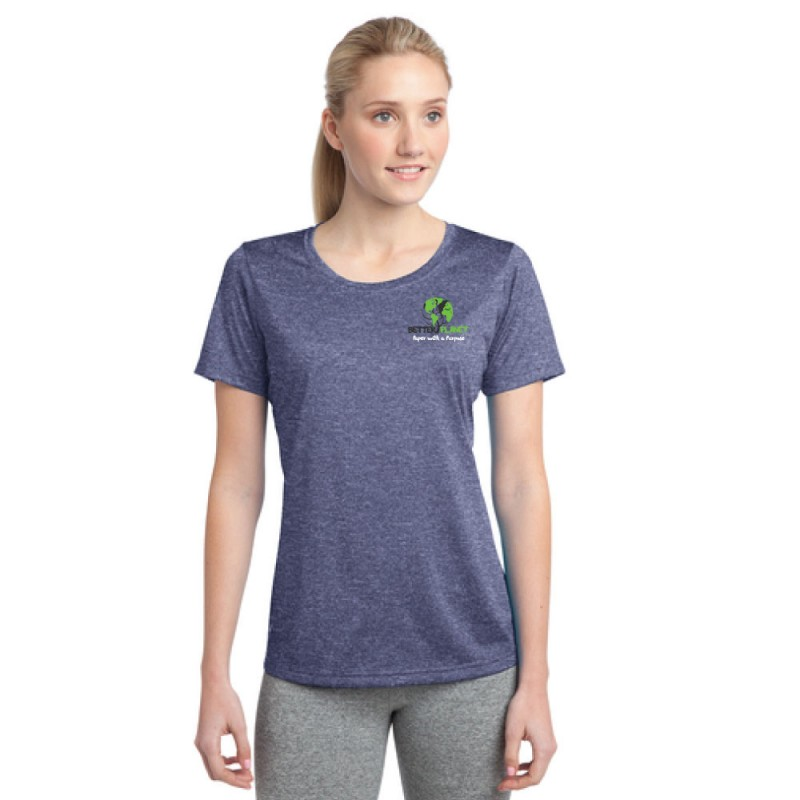 Sport-Tek® Ladies Heather Contender™ Scoop Neck Tee